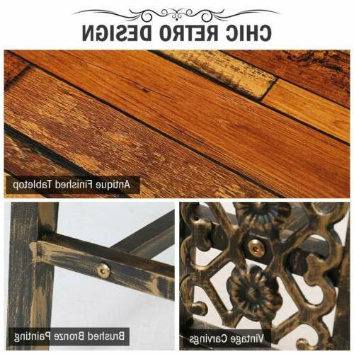 Rustic+Antique Dining Table Metal