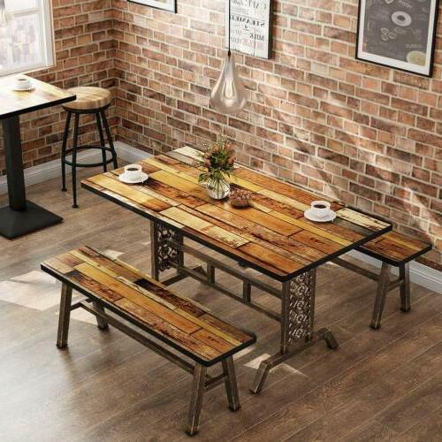 Tribesigns Dining Table with Two Dining Kitchen