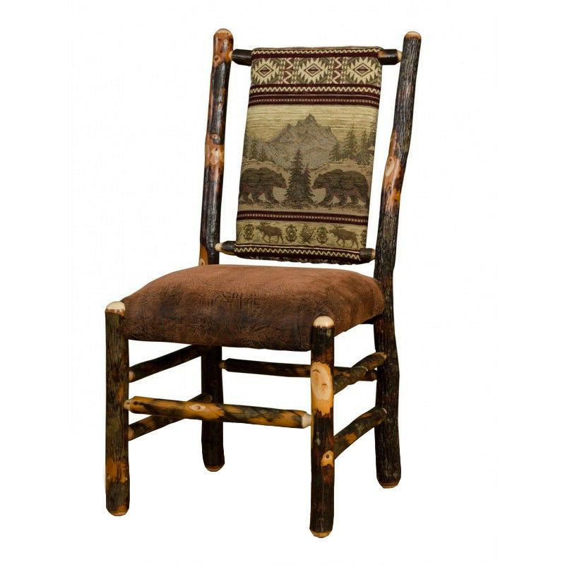 """Rustic Hickory 72"""" Dining 8 Chairs"""