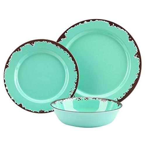 rustic melamine tableware set