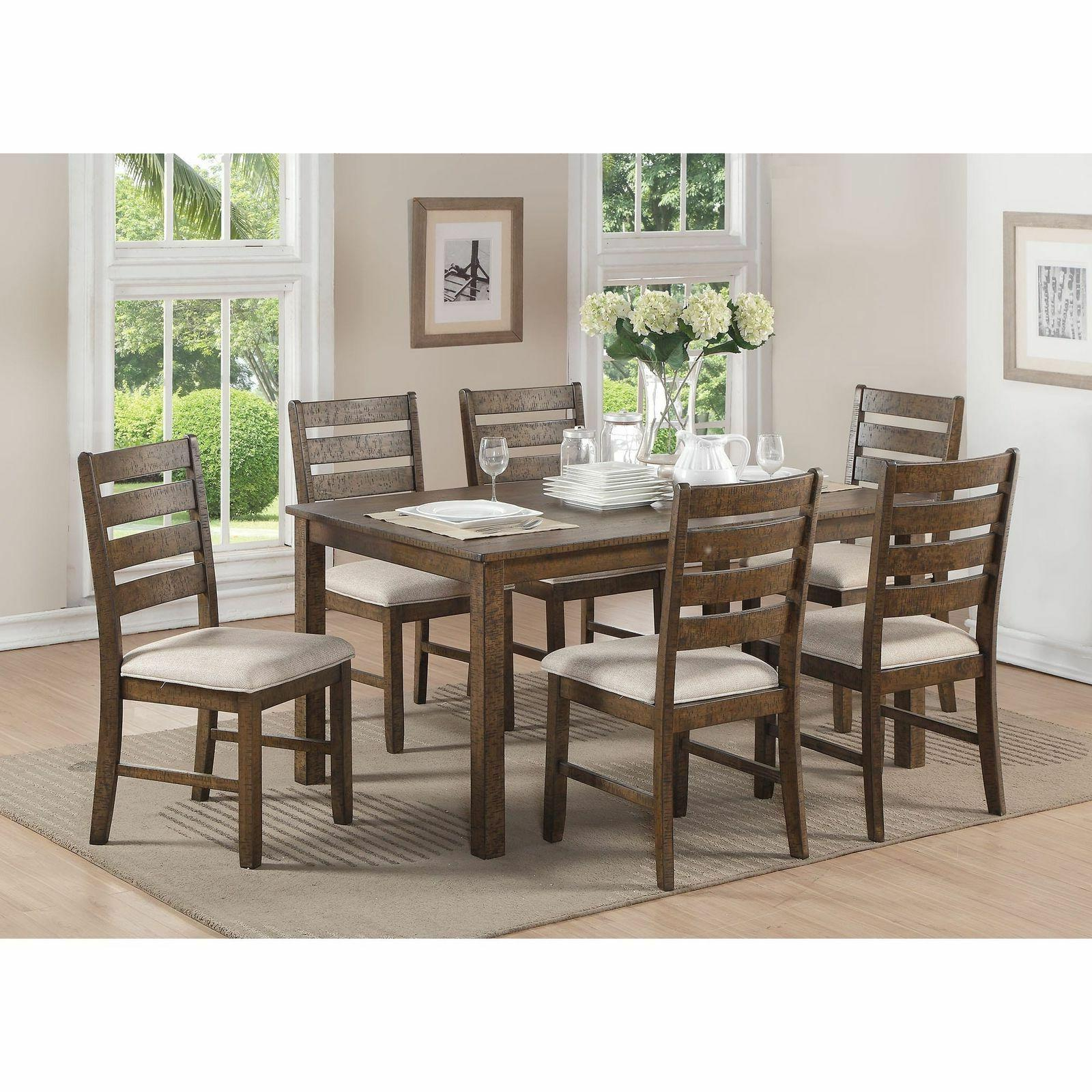 Acme Furniture Salileo Weathered Light Oak 7-piece Dining Se