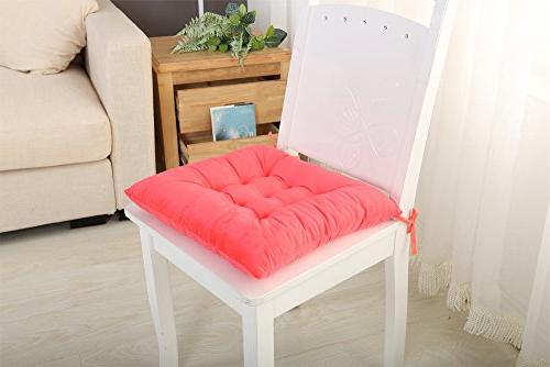 Set Chair And With Ties On Backs Non Ultra Soft Insert Washable Seat Cushion For Office, Dining, Dorm, Chair Grip