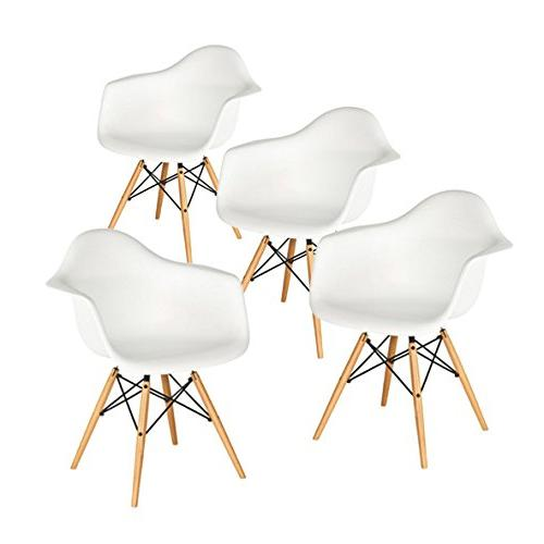 set four white eames mid