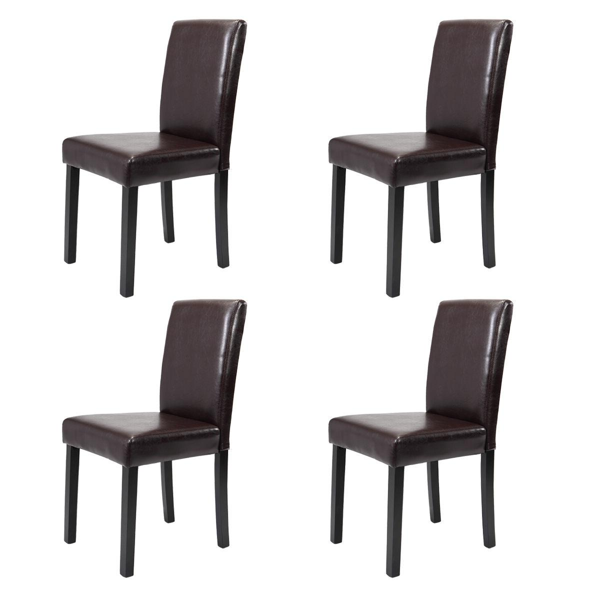 Set of 2/4/6/8/10 pcs Leather Elegant Design Dining Chairs H