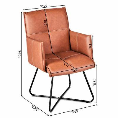Set 2 Chairs Seat w/Metal