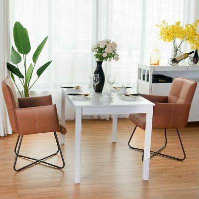 Set of 2 Chairs Seat w/Metal