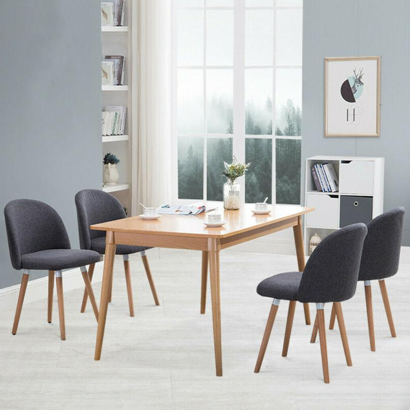 Dining Side Chairs w/ Backrest Dinette Room Comfortable Kitc