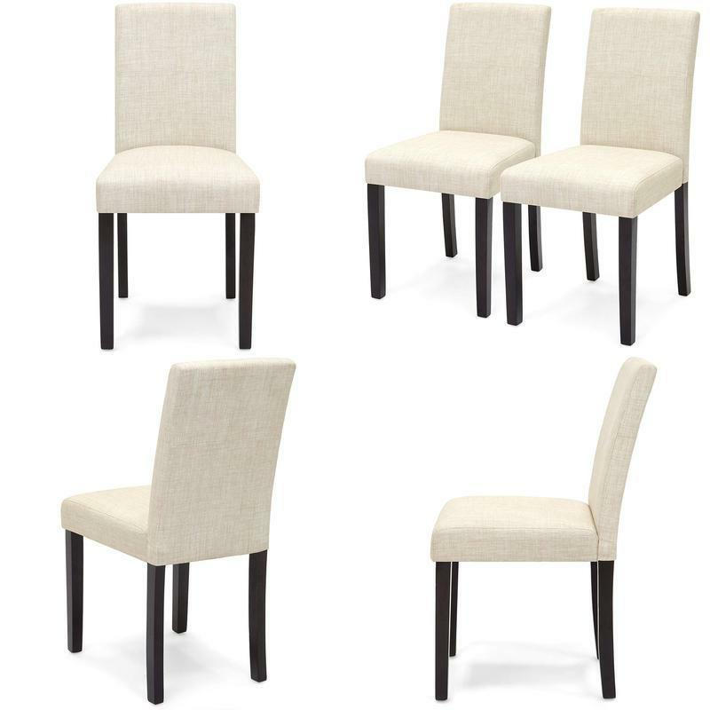 Best Choice Products Set Of 2 Fabric Parsons Dining Chairs
