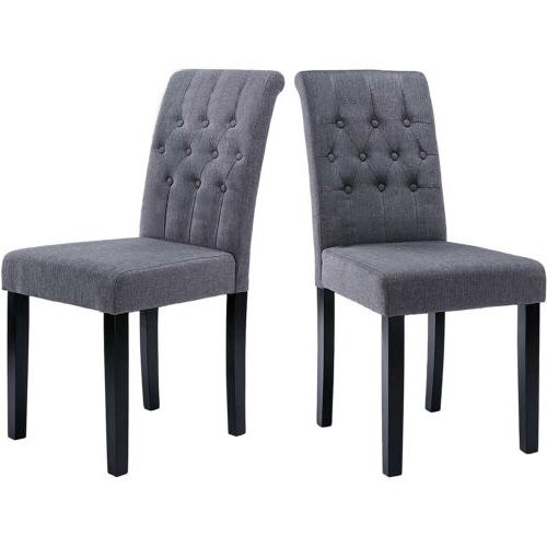 Dining Room Chairs High Back Padded Kitchen Chairs with Soli