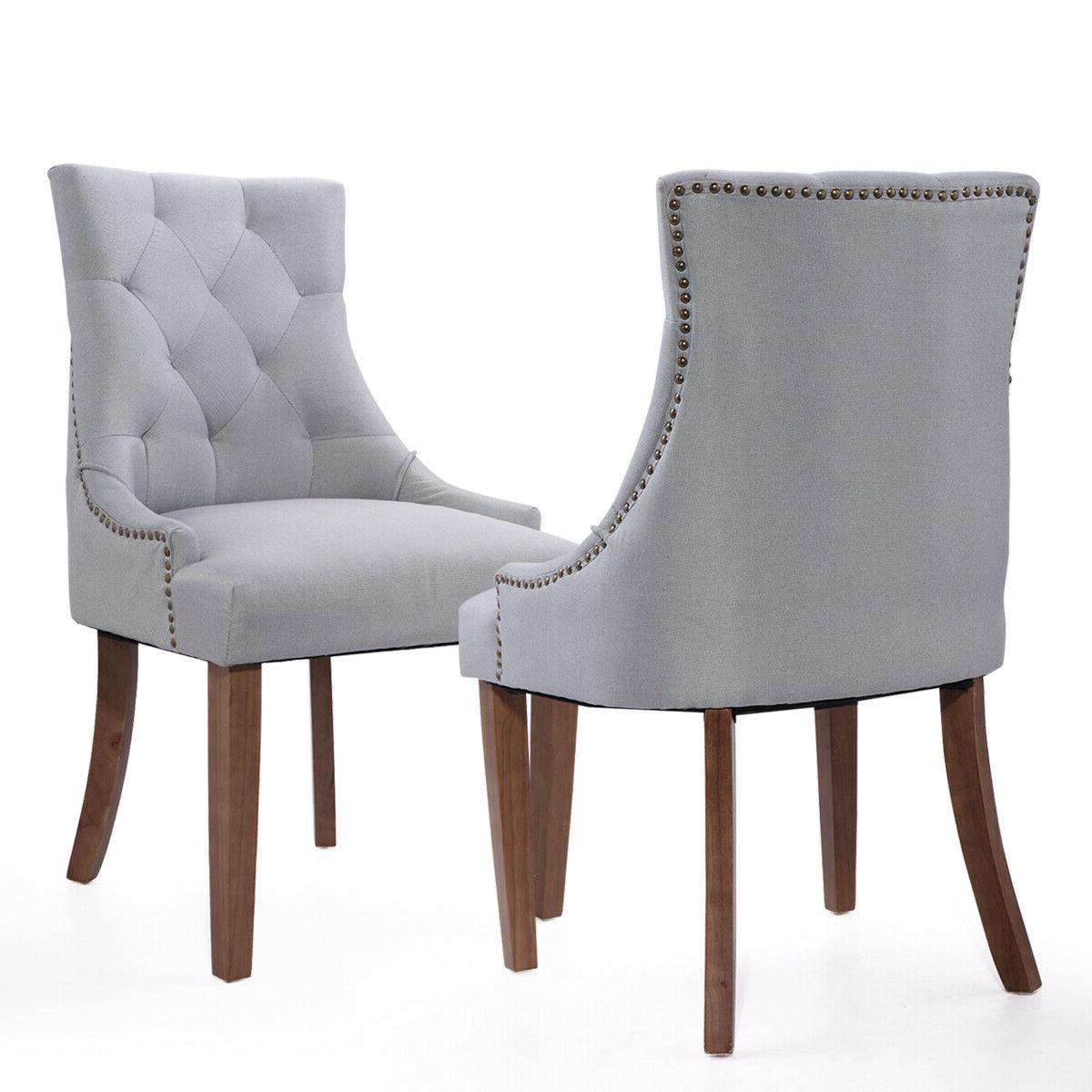 Set Dining Chairs with Rubber Legs
