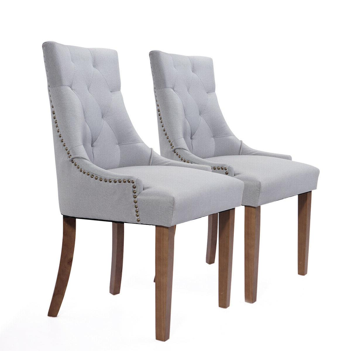 Set of Dining with Solid Legs Gray