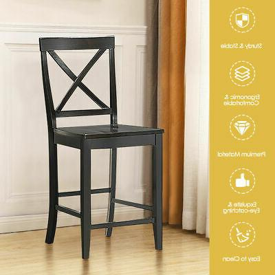Set of 4 Counter Height Barstools Dining Frame