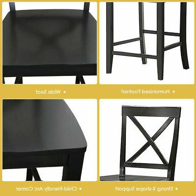 Set of 4 Counter Barstools Kitchen Dining Chairs Rubber