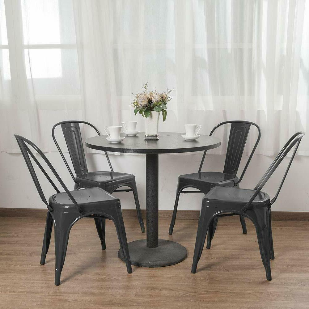 Set of 4/8/12 Metal Side Chairs with