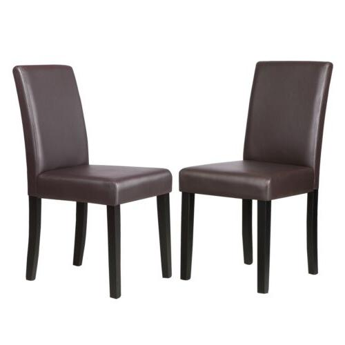 Set of Black/Brown/White Leather Elegant Dining