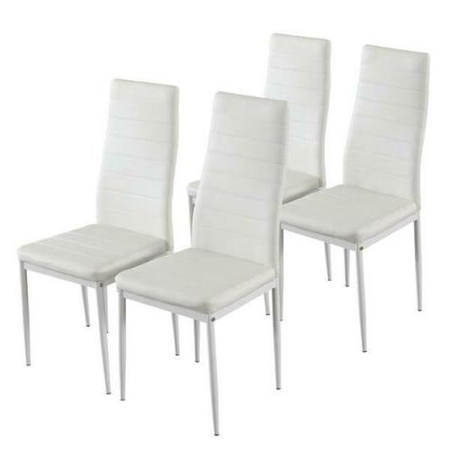 set of 4 dining chairs steel frame