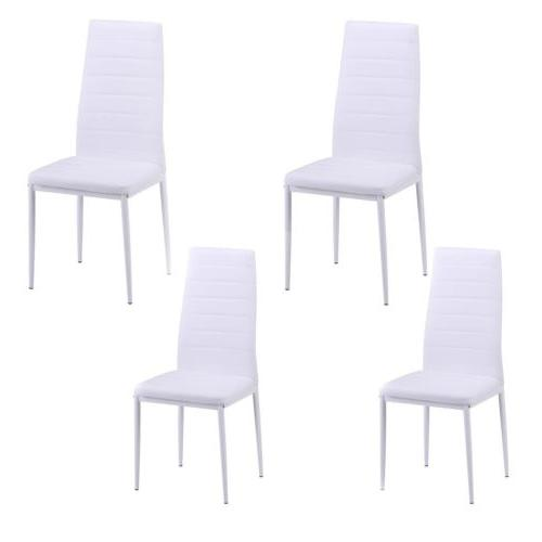 Set of 4 Dining Room Chairs PU Leather Home Furniture Kitche