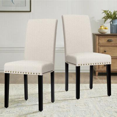 Set of 2 Dining Nailhead and Legs