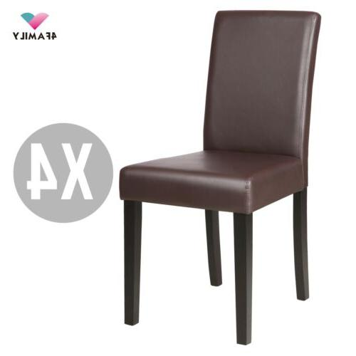 Set 4 Dining Chair Leather Room Design