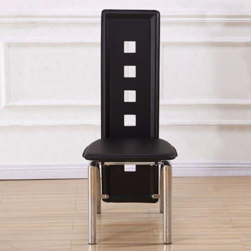 Set of Dining Chair Backrest Leg Dining Room