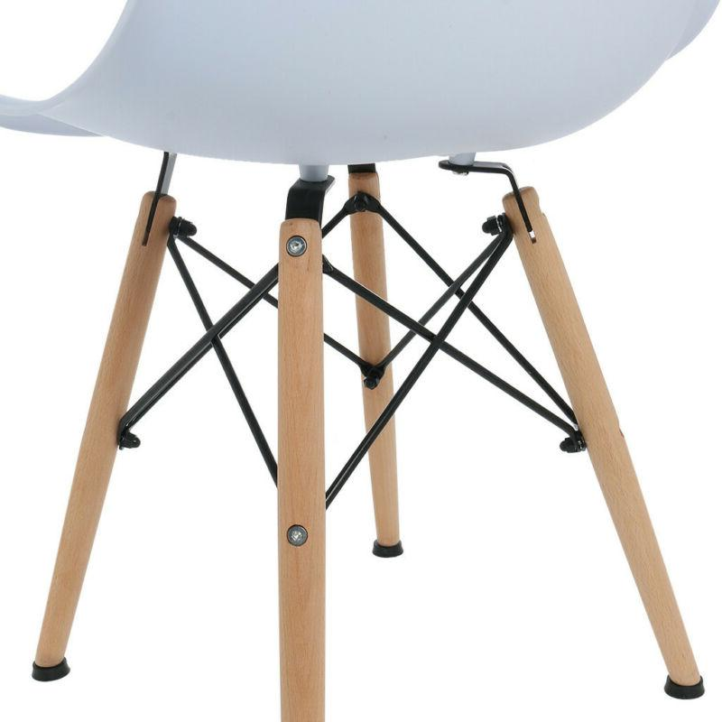 Set Wood Legs Dining Chair Seat