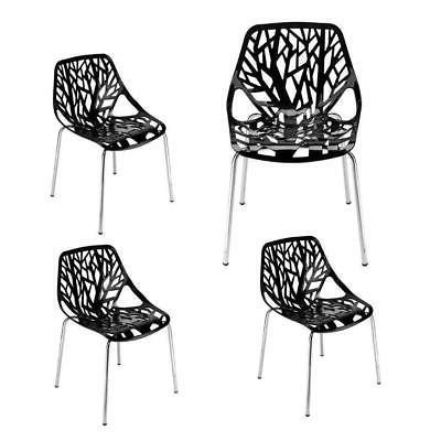 Set of PCS Modern Style Lounge Dining Chair Black Color Room NEW