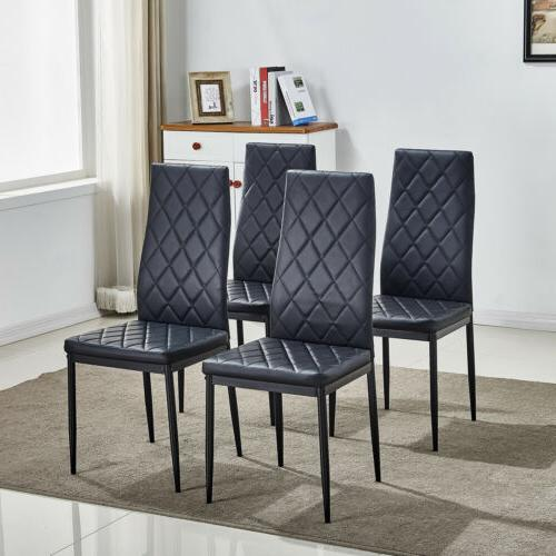 Set of 4 Stunning Dining Chairs Comfortable Leather Dining R
