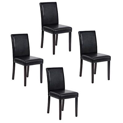set of 4 urban style leather dining