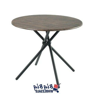 Set of 5 Modern Round Dining Table 4 Simple Life Wooden Brown