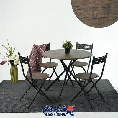 set of 5 modern round dining table