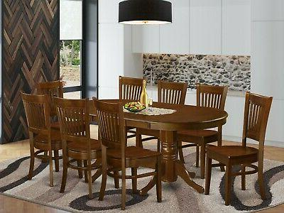 East West Furniture 7pc Vancouver dining set table + 6 chair