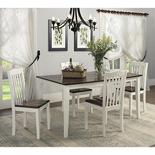 Dorel Living Rustic Dining White /