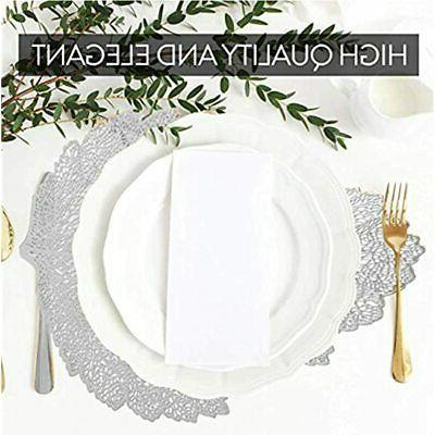 Silver Cutout For Table Inches Set Of 6 Pieces