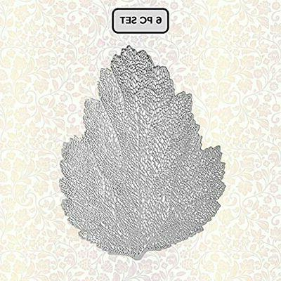 silver leaf cutout placemat for dining table