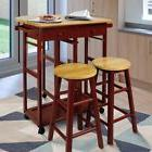 Small Dining Table Set Pub Kitchen Breakfast Nook With Drop