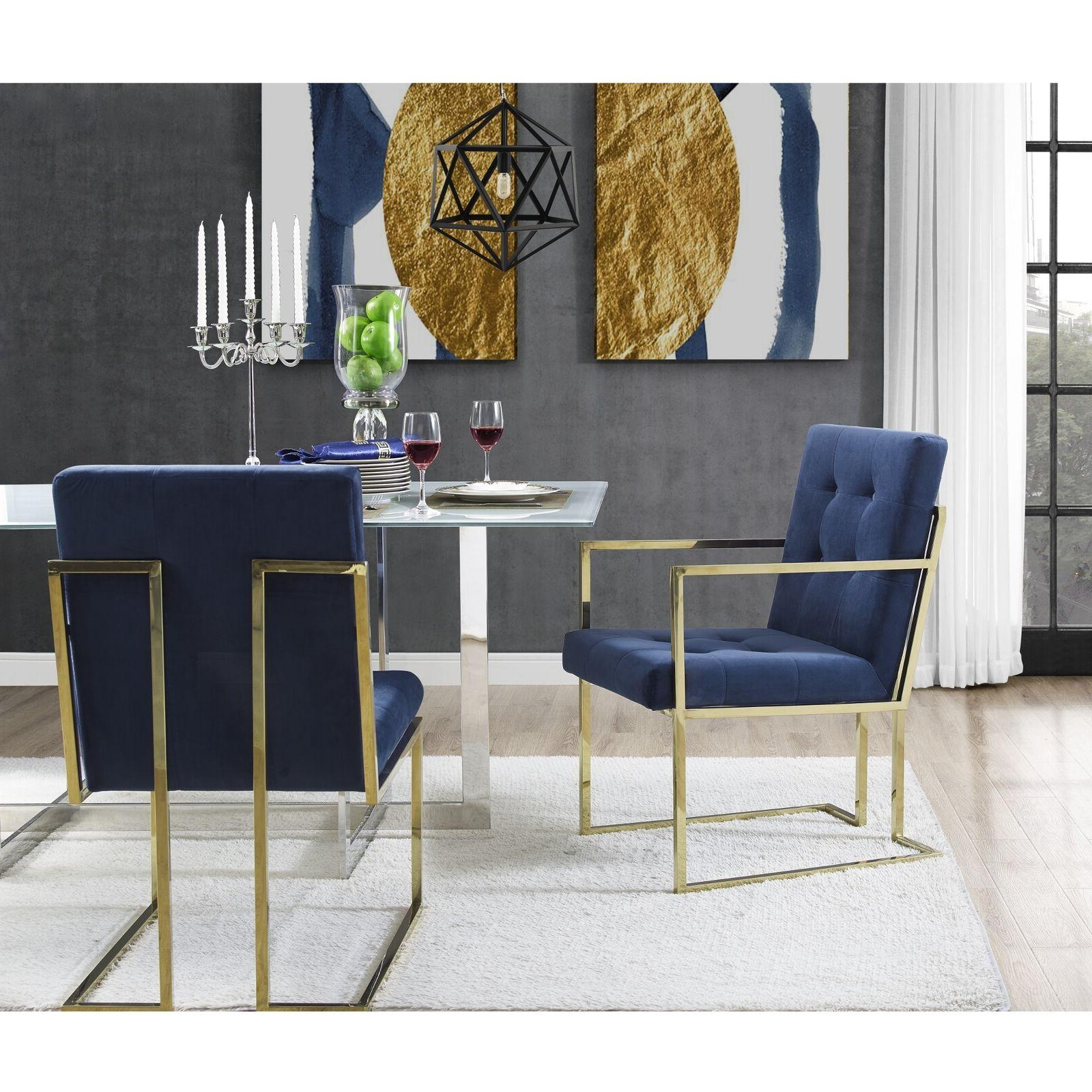 square back arm upholstered dining chair set