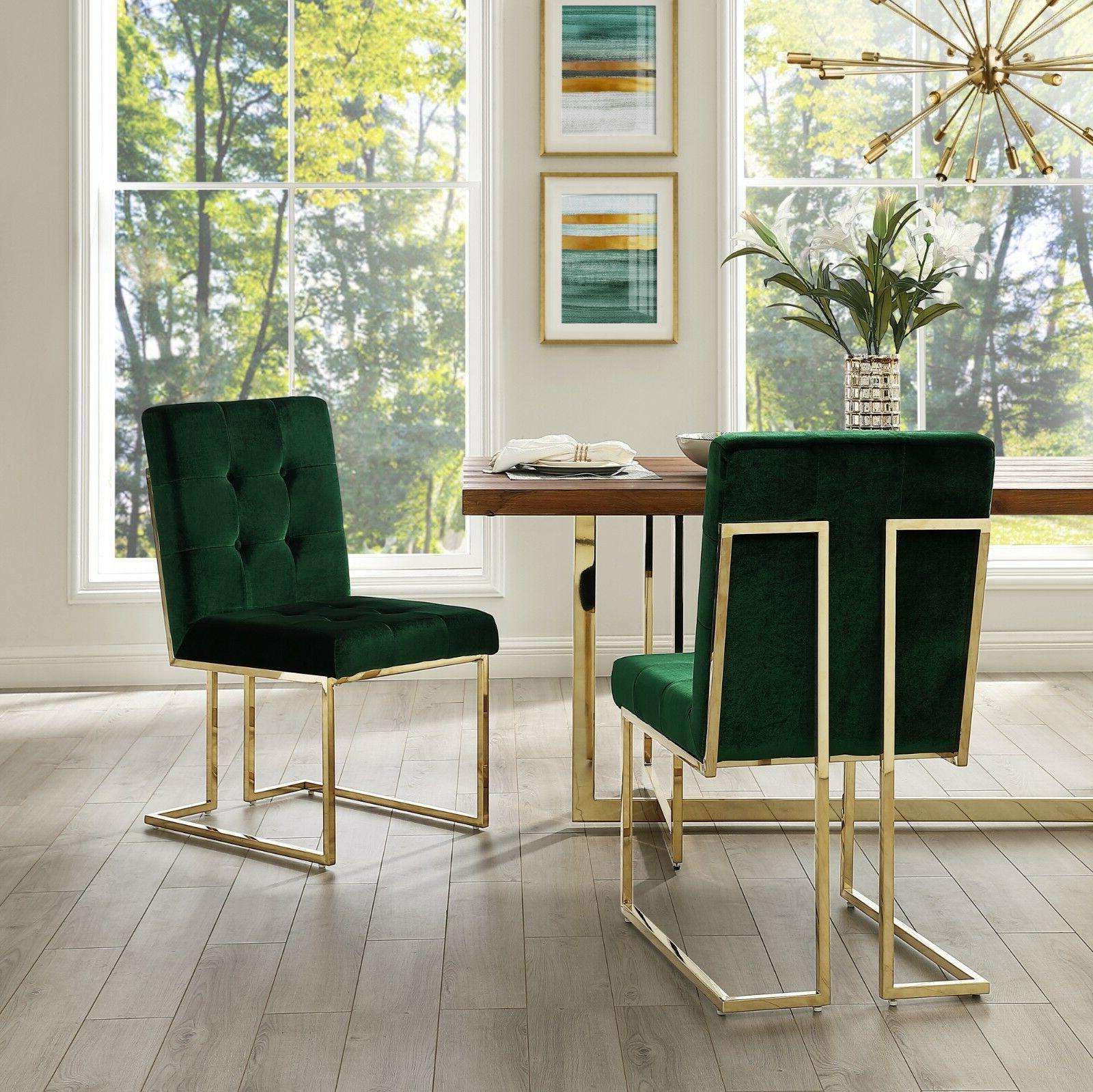 Square Dining Chair of 2 PU Fabric