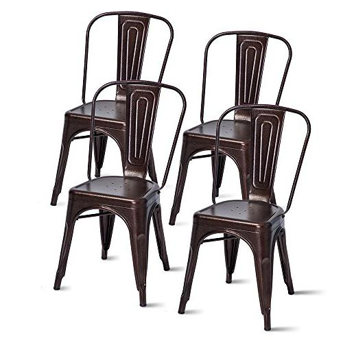 metal chairs stackable dining room