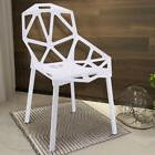 Stackable Modern Chair, Modern Dining Chairs ,Set of 4 White