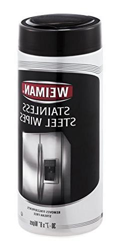 Weiman Stainless Steel Wipes Canister 30 Count