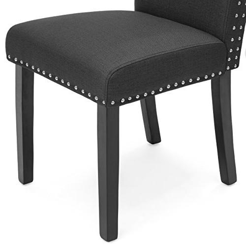 Best Products of Studded Polyester Parsons Dining Chairs - Gray