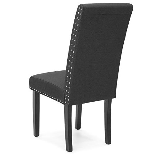 Best Choice Products Set of Parsons Chairs Gray