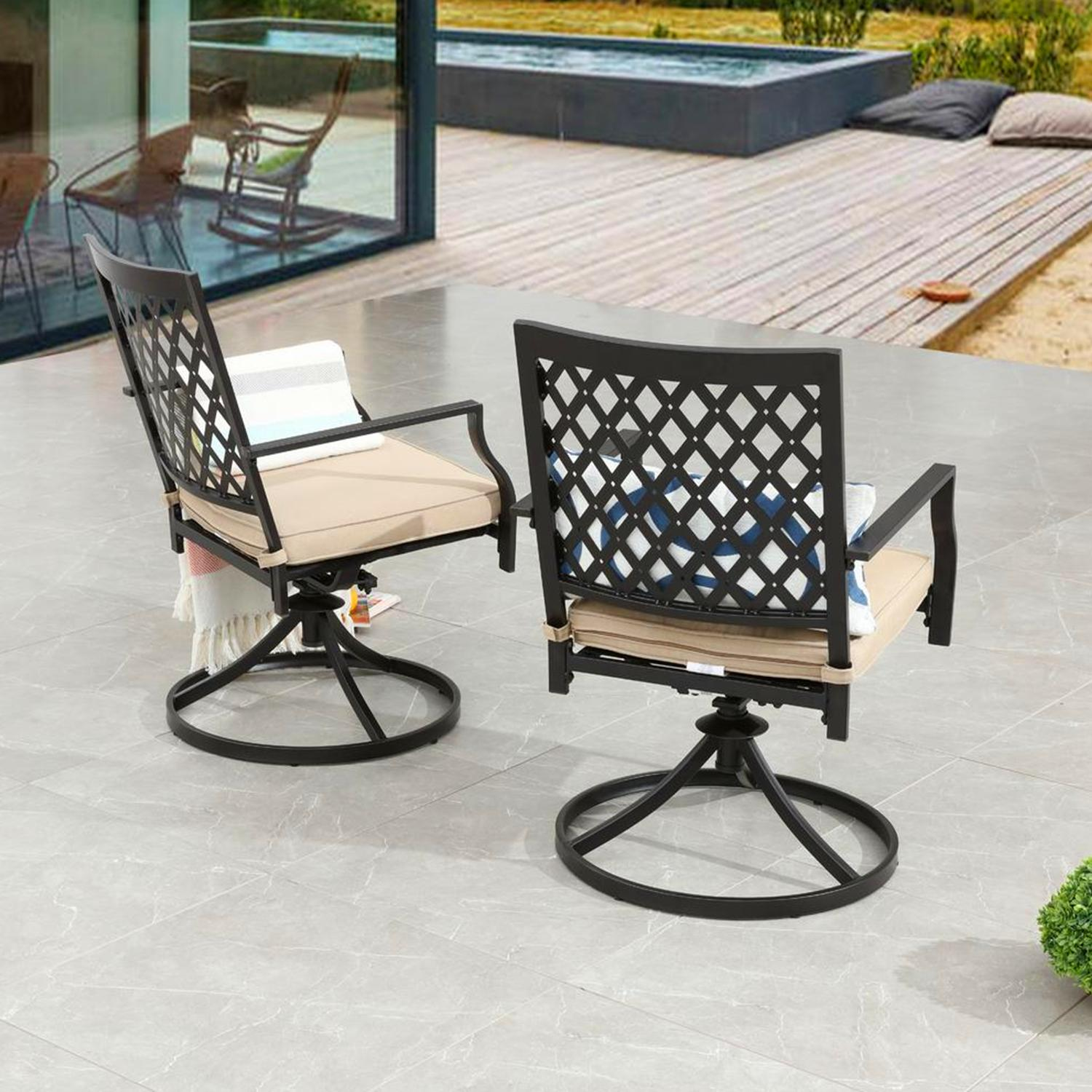 of Swivel Dining Chairs Outdoor Furniture