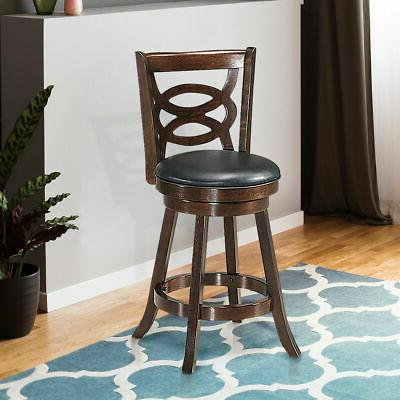 Swivel Stool Counter Height Upholstered Dining Home Kitchen