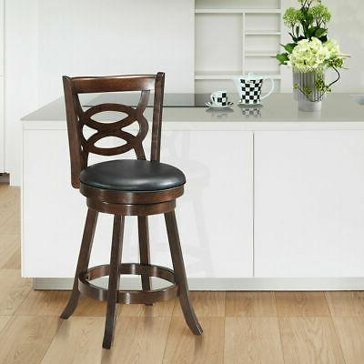 """Swivel 24"""" Counter Height Upholstered Home Kitchen"""