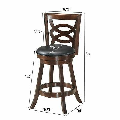 """Swivel 24"""" Counter Height Upholstered Dining"""