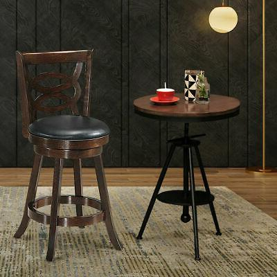 """Swivel Stool 24"""" Counter Height Upholstered Dining Home"""