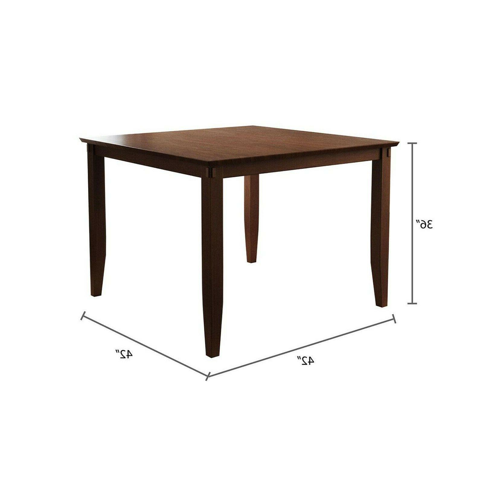 Sycamore 5-Piece Dining Set Abbyson Design Brown-FREE SHIPPING