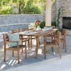 Taiga Outdoor 7-piece Rectangle Wood Dining Set by Christoph