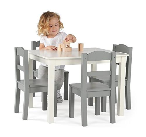 Tot Collection Wood White/Grey
